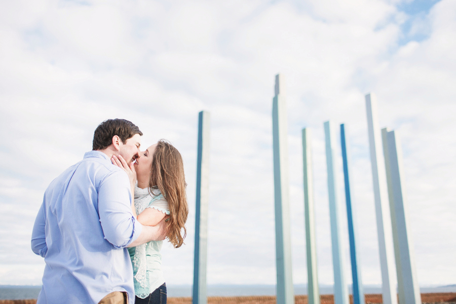 Spring Engagement shoot at Dysart Harbour in Fife - photographed by Hamish Robb Photography