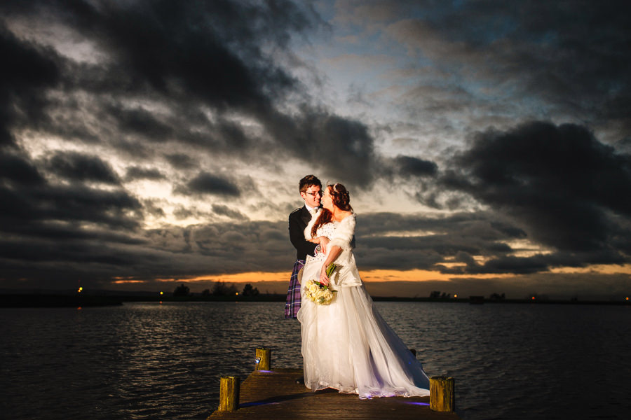 Winter wedding photography at The Vu in Bathgate - photographed by Hamish Robb Photography