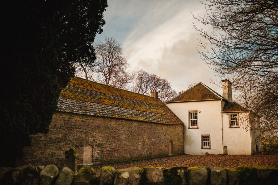 comrie croft wedding - wide shot of innerpeffray library for wedding